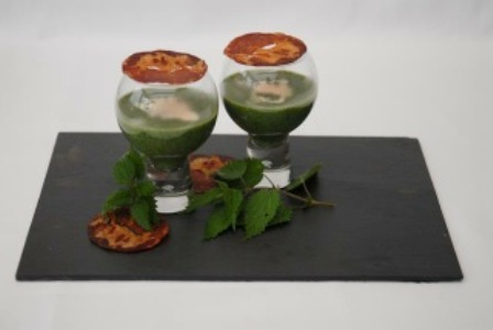 Franck Pontais, Nettle Soup with Crispy Coppa